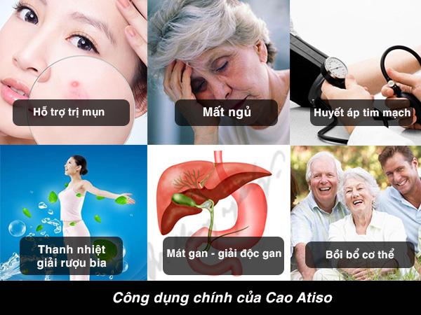 Công dụng chính Cao Atiso