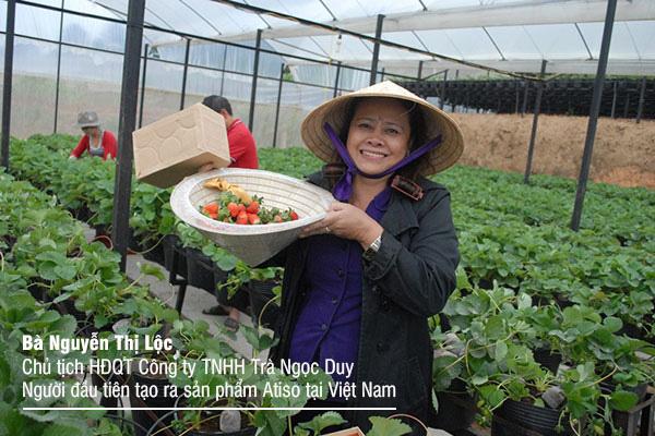 Bà Nguyễn Thị Lộc - Chủ tịch hội đồng quản trị Công ty TNHH Trà Atiso Ngọc Duy