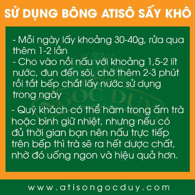 Cách sử dụng Bông Atiso sấy khô