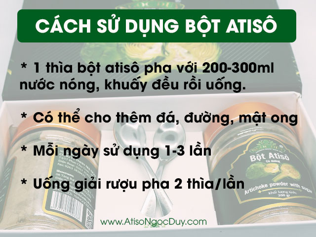 Cách sử dụng bột atiso