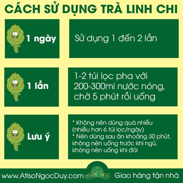 Cách sử dụng Trà Linh Chi